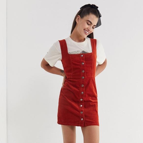 f393222041a7 Urban Outfitters Dresses | Uo Corduroy Buttondown Mini Dress | Poshmark